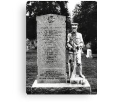 Memorial Stone Black&White Canvas Print