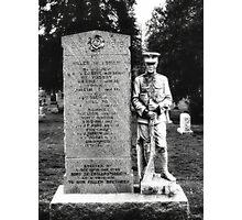 Memorial Stone Black&White Photographic Print