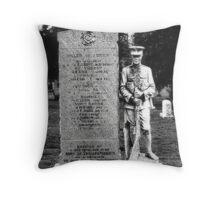 Memorial Stone Black&White Throw Pillow