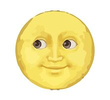 Full Moon With Face Apple / WhatsApp Emoji by emoji