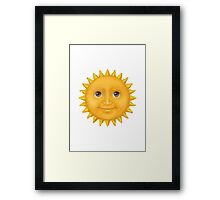 Sun With Face Apple / WhatsApp Emoji Framed Print