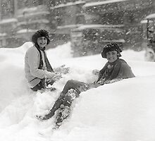 Girls in the Snow, 1922 by historyphoto