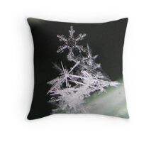 SNOWFLAKE PILE Throw Pillow