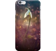 Snowdrops in the early rain iPhone Case/Skin
