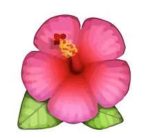 Hibiscus Apple / WhatsApp Emoji by emoji