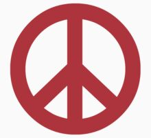 Red Peace Sign Symbol by popculture