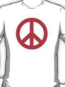 Red Peace Sign Symbol T-Shirt