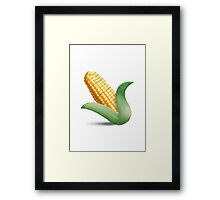 Ear Of Maize Apple / WhatsApp Emoji Framed Print