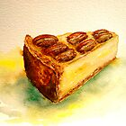 Delicious...A Slice of New York Cheesecake with Candied Pecans by © Janis Zroback