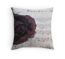 Cracklin' Rose Throw Pillow