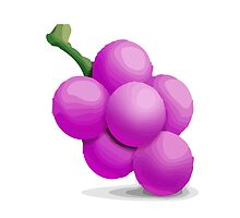 Grapes Apple / WhatsApp Emoji by emoji
