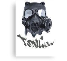Spooky toxic gasmask nation Canvas Print