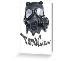 Spooky toxic gasmask nation Greeting Card