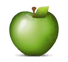 Green Apple Apple / WhatsApp Emoji by emoji