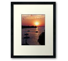 Four Sailboats Framed Print