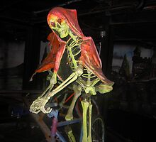 skeleton on a bike by sarah-and-ash