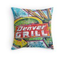 The Denver Grill Tulsa, OK Throw Pillow