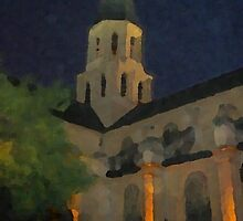 The Church at Rueil-Malmaison France by Orla Cahill