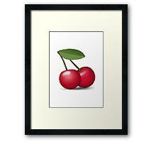 Cherries Apple / WhatsApp Emoji Framed Print