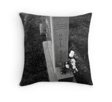 Holy Bible Tombstone Black&White Throw Pillow