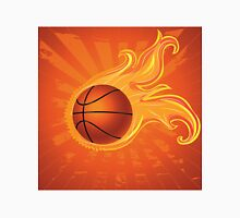 Fire Basketball Ball Background T-Shirt