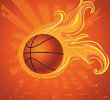 Fire Basketball Ball Background by AnnArtshock