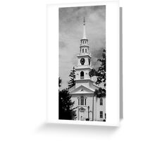 New England Church Greeting Card