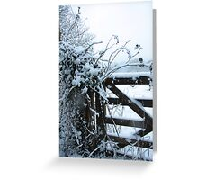 Snowy gate Greeting Card