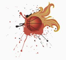 Fire Basketball Ball 2 One Piece - Short Sleeve