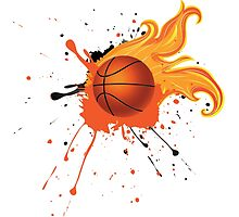 Fire Basketball Ball 2 by AnnArtshock
