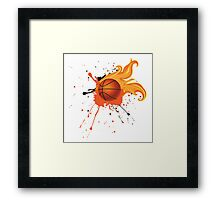 Fire Basketball Ball 2 Framed Print