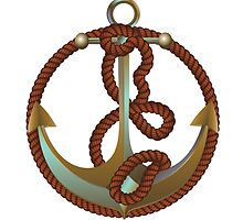 Anchor with rope by AnnArtshock