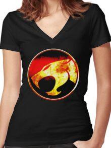 Spirit Of The Thundercats Women's Fitted V-Neck T-Shirt