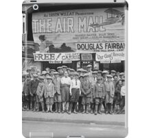 Children at the Movies, 1925 iPad Case/Skin