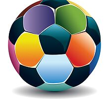 Colorful Soccer Ball by AnnArtshock