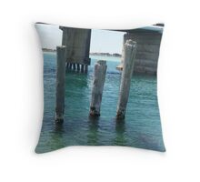 The 3 Piers Throw Pillow