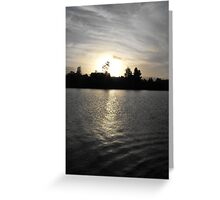 Sunset Over The Manning River Greeting Card