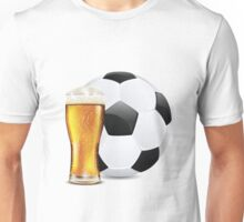 Beer and Soccer Ball Unisex T-Shirt