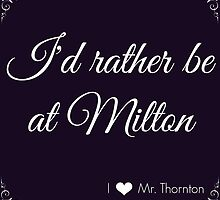 I'd rather be at Milton - Blue and White by mrsthornton
