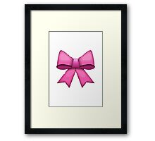 Ribbon Apple / WhatsApp Emoji Framed Print