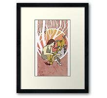 Cinderella´s dress Nouveau Old Stories Framed Print