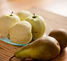 Peeled apples and pears  by Arletta Cwalina