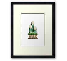Pine Decoration Apple / WhatsApp Emoji Framed Print