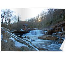Glade Creek Sunset Poster