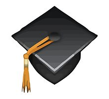 Graduation Cap Apple / WhatsApp Emoji by emoji