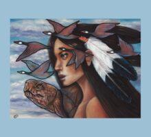 Sky Woman Iroquois Mother Goddess One Piece - Short Sleeve