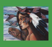 Sky Woman Iroquois Mother Goddess Baby Tee