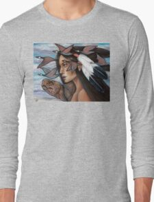 Sky Woman Iroquois Mother Goddess Long Sleeve T-Shirt