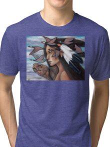 Sky Woman Iroquois Mother Goddess Tri-blend T-Shirt