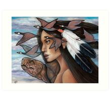 Sky Woman Iroquois Mother Goddess Art Print